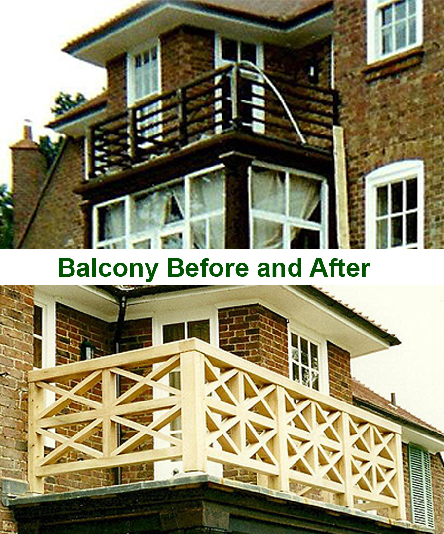 Balcony Before and After Restoration