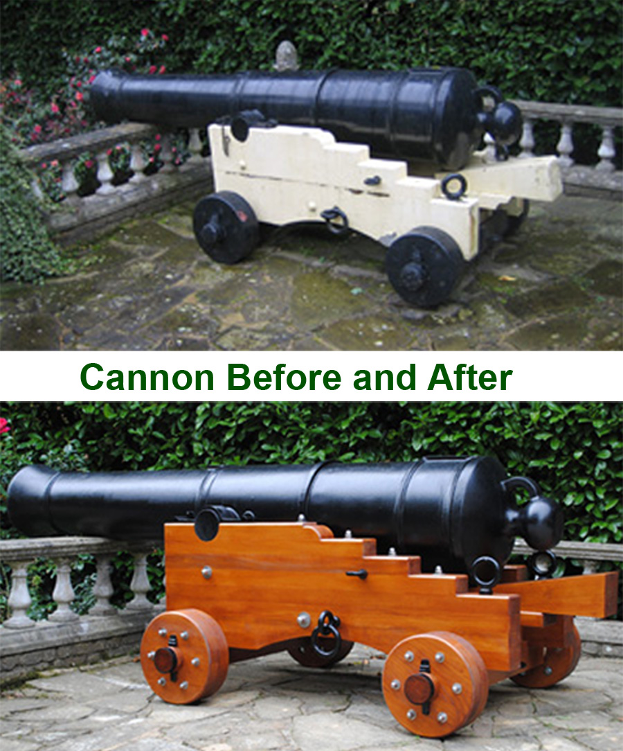 Cannon Before and After Restoration